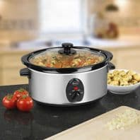 Swan 3.5 Litre Stainless Steel Slow Cooker